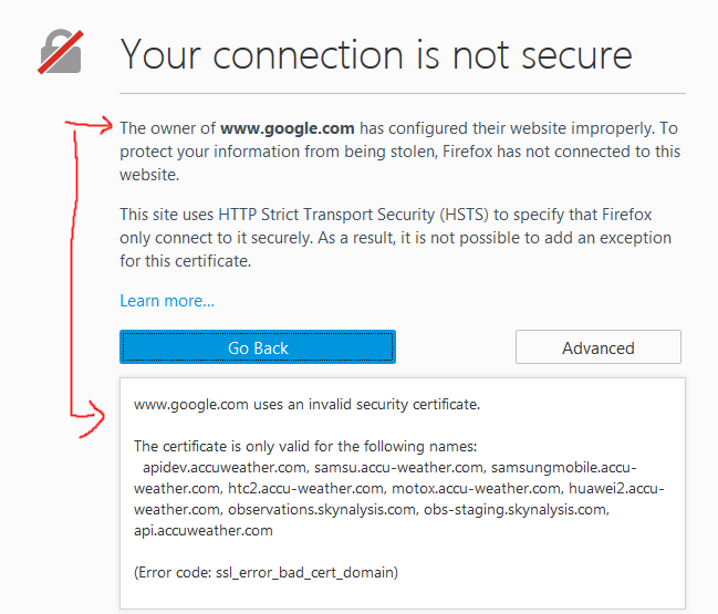 Why is my connection to Google, Gmail or HSTS Site Untrusted? - The ...